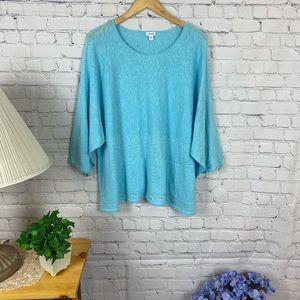 Purejill Baby Blue linen blend blouse